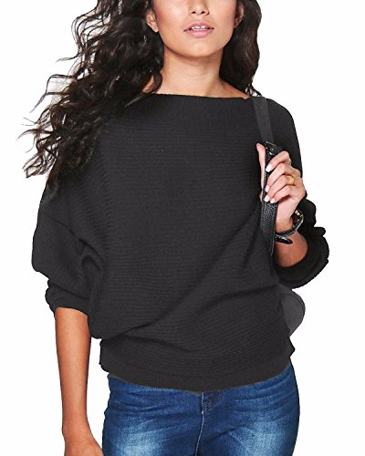 Lanisen Womens Ladies Batwing Long Sleeve Kintted Sweater Tops Jumpers 6-14