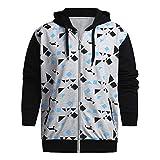 Yvelands Herren Sweatshirt Hoodie Herbst Winter gedruckt Schulter Freizeit Jacke Kragen Mantel lässig(EU-54/L3,Grau5)