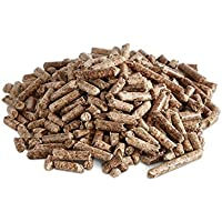 BURNHARD Pellets de Bois 10 kg granulés de Bois pour poêle, pellets à Haute efficacité énergétique, pellets pour Gril (utilisables même comme litière en granulés pour Animaux domestiques)