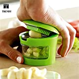 TRENDY TNT Plastic Garlic Cutter Crusher And Chopper, (Green, TRND008P)