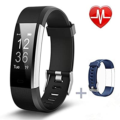 Fitness Tracker,Pruvansay Activity tracker Heart Rate Monitor Smart bracelet with Pedometer/Call Message Alert/Sleep Monitor/Control Camera Mode/Calorie/Sedentary Reminder for Android and iOS IP 67 Wa from Pruvansay