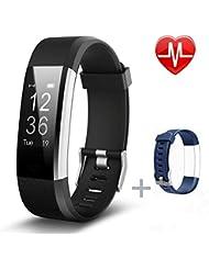 Fitness Armbänder, Pruvansay Fitness tracker mit Pulsmesser, Fitness Aktivitätstracker Schrittzähler, Schlaf-Monitor,/ Kalorienzähler, Anrufen / SMS, finden Telefon für Android iOS Smartphone