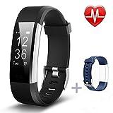 Fitness Armbänder, Pluvansay Fitness tracker mit Pulsmesser, Fitness Aktivitätstracker Schrittzähler, Schlaf-Monitor,/ Kalorienzähler, Anrufen / SMS, finden Telefon für Android iOS Smartphone