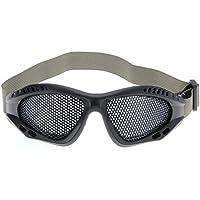 Occhiali Protettivi a Rete Nero con Cinturino per Softair Alpinismo
