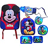 Disney Mickey Mouse Clubhouse Children's Backpack & Lunch Box With 5 Pc Lunch Kit
