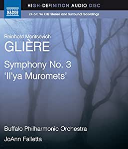 Gliere: Symphony No. 3 [JoAnn Falletta] [Naxos Blu Ray Audio: NBD0041] [DVD AUDIO]