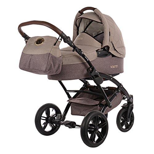 Kombikinderwagen Knorr-Baby Voletto Happy Colour, beige-braun