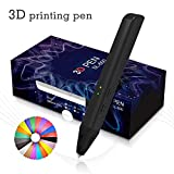 Plumas Para Impresión,3D Pens Kit With 4 Bonus(3 Meter) PLA 1.75mm Filament Refills for Doodling,Non-Clog Patented Nozzle, Safe Christmas DIY Gift for Kids, Black(Gift Package)