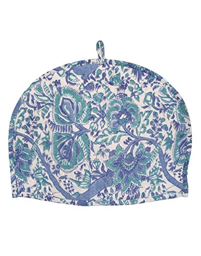 Tea cosy kitchen accessories Tea cozy Off White Indian Blue Kettle cover...