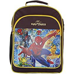 Right Choice Nursery,Lkg,Ukg,Kids,Girls,Boys, Spider Man,School bag,Purple & yellow (RCS2145)