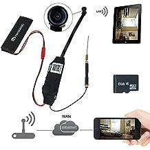 TEKMAGIC Mini Cámara Espía WIFI 8GB Movimiento Detective Videocámara Mini DV 1920X 1080P HD con 140 °Ángulo de Visión Amplio