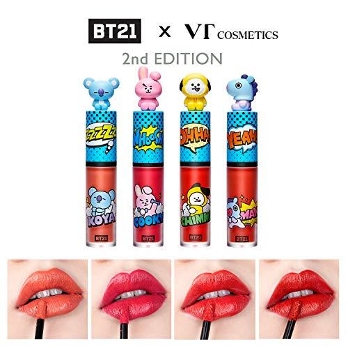 BT21 x VT cosmetics Art In Lip Tint(02 Persimmon Orange) Vivid Liquid  Lipstick Lightly Fit on Lips Velvet Texture with High Pigments, Moisture  Lips,