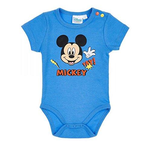 Disney mickey babies boys body neonato - blu - 6m