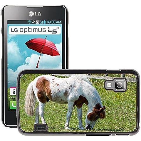 Just Cover Hot stile Cell Phone PC COVER RIGIDA//M00140281Cavallo Pony pascolo Abbastanza Equine//LG Optimus L5II Dual E455/E460