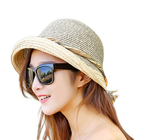 Price comparison product image outflower Rafi Sunscreen Seaside Spring and Summer Autumn Foldable Straw Hat Sun Hat Beach Hat