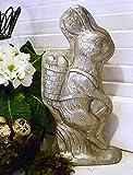 Osterhase Backform Optik stehend mit Korb 24 cm Figur Osterdeko