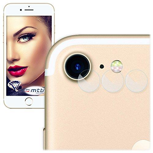 mtb more energy® 3X Kamera-Schutz-Glas für Apple iPhone 7 / iPhone 8 (4.7'') - Schutz-Folie Glasfolie Rückseiten-Cam Linse Back