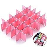 Gkood cassettiera Organizer divisorio 8pezzi di plastica fai da te regolabile cassetto portaoggetti organizer (31cm 2–3/10,2cm rosa)