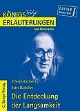 Königs Erläuterungen und Materialien, Bd.427, Die Entdeckung der Langsamkeit - Sten Nadolny