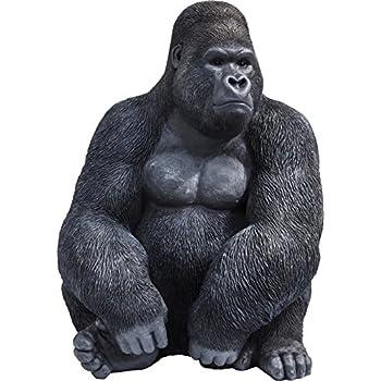 Kare Deko Figur Gorilla Side XL, große Dekofigur in Form eines Gorillas,  ausgefallene Wohnzimmer Dekoration, (H/B/T) 76 x 60 x 55 cm