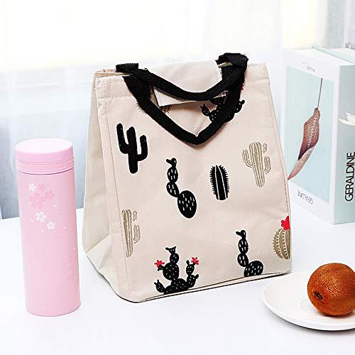 TAOtTAO Isolierte kalte Leinwand Picknick-Tragetasche thermische tragbare Lunchpaket Isolationsbeutel Lunchpaket (A) (Schultergurt Jungen-mittagessen-tasche)