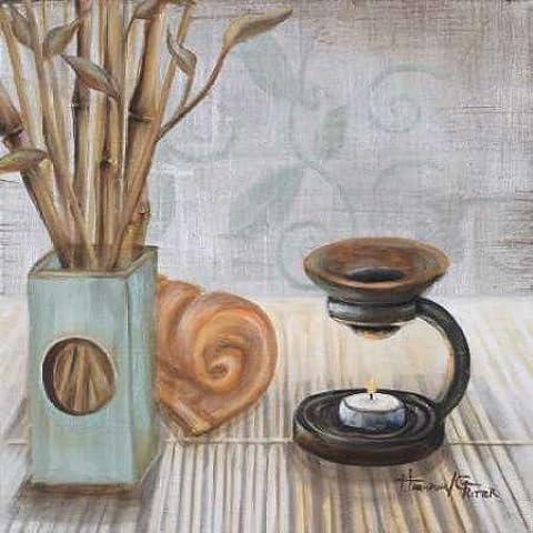 Impresión de Arte Fino en lienzo : Zen Bath I by Hakimipour-Ritter - pequeña (57 x 57 Cms)