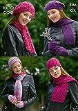 King Cole Ladies Hats, Scarves & Gloves DK Knitting Pattern 3166