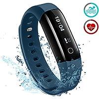 Fitness Tracker, Mpow IP68 Wasserdichte Smart Fitness Armbänder mit Pulsmesser, OLED Herzfrequenz Monitor Aktivitätstracker Pedometer für Android iOS Smartphones.