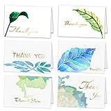 Danke Karten mit Goldfolienbeschriftung - 36 Verschiedene Dankeschön-Grußkarten mit Umschlägen für alle Anlässe,Hochzeit,Abschluss,Babydusche,Brautparty,Jahrestag,Geschäft,4 x 6 Zoll