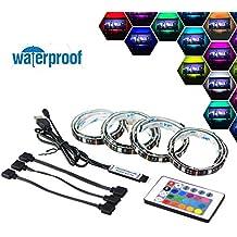 Simfonio Tiras LED 2M Retroiluminación LED de TV USB Tira De Luz Con Control Remoto Para TV de 40 A 60 Pulgadas HDTV, Monitor De PC