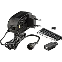 Goobay 59029 Universal Netzteil 1500mA 3V/4,5V/5V/6V/7,5V/9V/12V inkl. 8 Adapterstecker plus USB