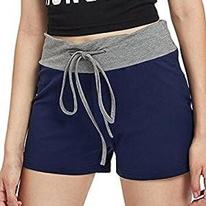 Siswong Damen Yoga Shorts Kordelzug Sports Ausbildung Trunks Unterwäsche Elastisch Brief Short Unterhose