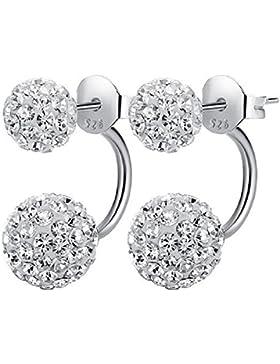 Yidarton Ohrstecker aus echte 925 Sterling Silber Perlen für Frauen Damen Kinder Mädchen Hochzeit Muttertag Geschenke
