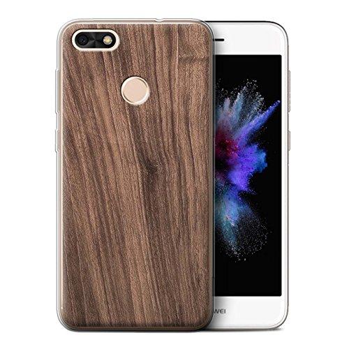 Stuff4® Gel TPU Hülle/Case für Huawei P9 Lite Mini/Nussbaum Muster/Holz/Holzmaserung Muster Kollektion -