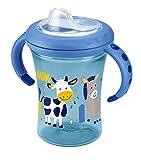 NUK Starter Cup 230ml, Silikontrinktülle, auslaufsicher, blau, ab 6 Monaten - 2