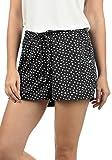 Blend She Amal Damen Chino Shorts Bermuda Kurze Hose mit Print und Kordel Loose Fit, Größe:S, Farbe:Black Dot (10010)