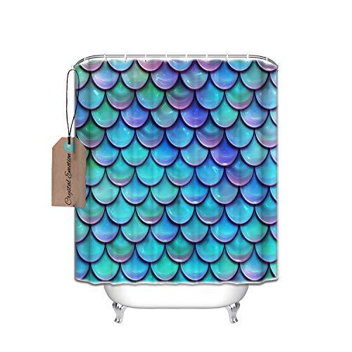 blau Duschvorhang Dekoration Mehltau wasserdicht Polyester Duschvorhang, aus Stoff, Textil, multi, 48x72 ()