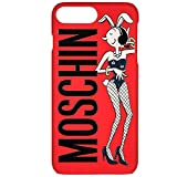 Moschino cover case custodia iphone 6 plus/6s plus/7 plus Rot