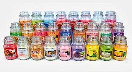Makbros - piccolo barattolo di vetro (85 g) con candela profumata in miscela di soia naturale (2 a scelta), con 1 sacchetto profuma biancheria incluso