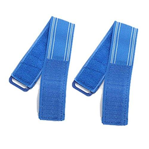 SODIAL (R) 2X Fahrrad Hallo Viz reflektierende Streifen Hose Pant Clips Strap Bind Ankle Sicherheit - Blau