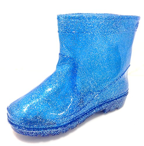 A.O.R. Toddler & Little Boys Blue Glitter Rain Boots