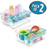mDesign 2er-Set Sortierbox für Babyartikel – als Aufbewahrungsbox im Kinderzimmer oder in der Küche zur Babynahrung Aufbewahrung