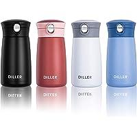 Diller Thermos Bottiglia Acciaio Inossidabile di Isolamento Tazza da Viaggio da caffè 450ml/230ml IT8778 (230ml, Bianco)
