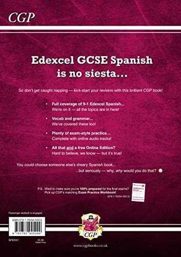 Gcse Spanish Edexcel Revision Guide - For The Grade 9-1 Course (with Online  Edition) (cgp Gcse Spanish 9-1 Revision)