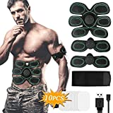 Hieha Electroestimulador Muscular, Abdominales ABS Estimulador Muscular, 6 Modos...