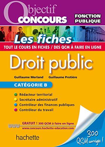 Objectif Concours Fiches Droit Public (Objectif Concours - Fiches)