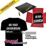 Bombo T-shirt PERSONALIZZABILE con il nome della laureata. Un'idea regalo diversa e originale.
