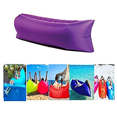 UHBGT Inflatable Air Lounger Sleeping Mattress Air Bed Sofa Folding Lazy Bag for Music Festival Travel Camping Hiking ,240*70CM