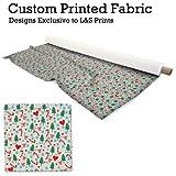 Weihnachtsbäume Zuckerstange & Herzen Design Neutral Digitaldruck gestrickt Jersey bedruckten Stoff 59