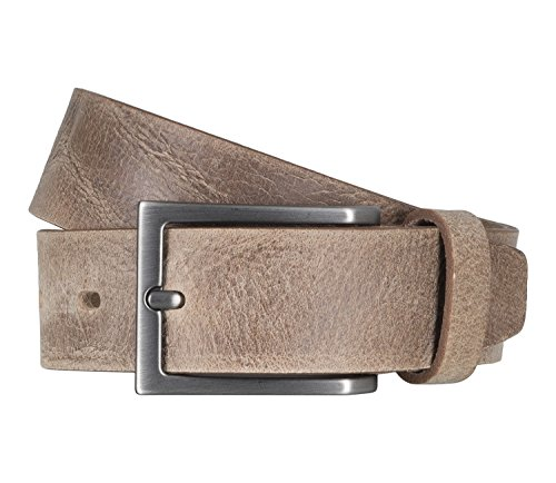 LLOYD Men's Belts Gürtel Herrengürtel Ledergürtel Büffelleder Beige 5105, Farbe:Braun, Länge:90